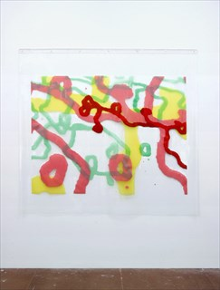 <I>Surface Tension</I> [2012] vinyl on clear PVC 183 x 200cm