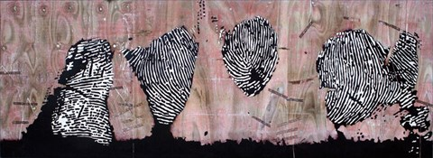 Girdle of Venus [2010] engraving + mixed media on plywood 86 x 236.5 cm